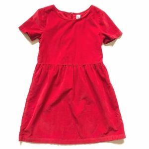 The Gap Fit & Flare Dress Girls Corduroy 12 Red XL